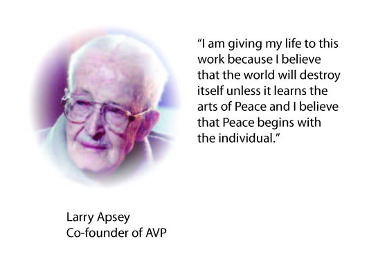 Larry Apsey color photo with quote