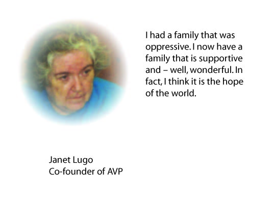 Janet Lugo color photo with quote